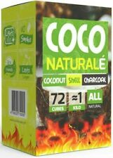 Coco Naturalé Coconut Charcoal Cubes for Hookah Coal Shisha 72Pcs 1.18KG Large