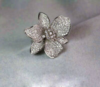 Gorgeous Flower 925 Silver Women Wedding Rings White Sapphire Ring Jewelry #6-10