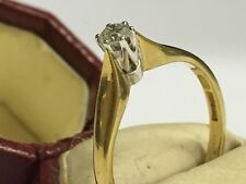 Vintage & Original 18ct Gold & Diamond Ring Size M 1/2