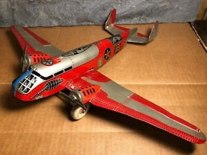 "Vintage Marx | 14"" Tin Bomber Airplane 