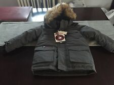 BOYS/GIRLS Canada WEATHERGEAR Hooded WATERPROOF WINTER Jacket GRAY Size 4 NWT