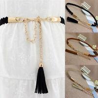 Wide Waist Fabric Belt Women Ladies Silk Scarf Solid Ribbon