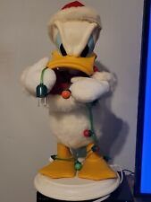 Santas Best Animated Donald Duck Rare Christmas Disney Holiday Decoration 1997