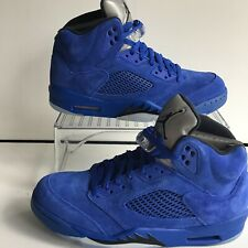 "4cd5fee1055 Nike Air Jordan 5 Retro Game Royal/ Black ""Blue Suede"" Men's Sz."
