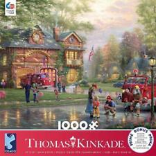 CEACO THOMAS KINKADE JIGSAW PUZZLE HOMETOWN FIREHOUSE 1000 PCS #3310-64