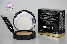 NIB CHANEL VITALUMIERE AQUA FRESH & HYDRATING CREAM COMPACT MAKEUP 30BEIGE CH02