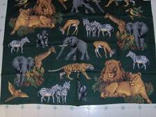 "jungle animals - elephants, tigers, lions - overall panel 32"" x 45"" PAN135"
