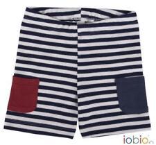 Shorts Righe Blu con Tasche colorat Cotone Organico GOTS 2/4 Anni IOBio Popolini