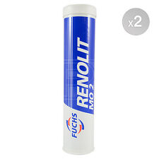 Fuchs RENOLIT MO 2 GREASE MO2 Lithium / Moly disulphide Grease 2 x 400g 800g