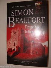 Deadly Inheritance  Simon Beaufort Susana Gregory 2010 HC Geoffrey Mappestone