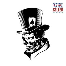 Skull Skeleton Sticker Decal, Car, Motorbike, Ace of Spades, Poker, Helmet cycle