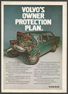 VOLVO - Volvo protects the people inside  - 1974 Vintage Print Ad