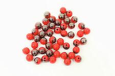 10 perle Rouge Brillant 10mm, Perle magique, creation bijoux, colier, bracelet