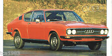 AUDI 100 S SPEC SHEET / Brochure / Prospekt: 1969,1970,1971,1972,1973