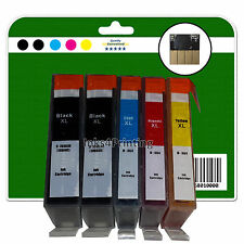 1 Set + 1 Black Chipped non-OEM Printer Ink Cartridges for HP PS C309h 364x4