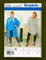 Woman's Kimono,Top, Leggings Sewing Pattern (Plus Sizes 26W-32W) Simplicity 8097