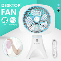USB Mini Humidifying Fan Atomizing Cooling Air Cooler Conditioner Touch  Q