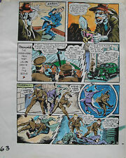 JACK KIRBY Joe Simon CAPTAIN AMERICA #6 pg 3 HAND COLORED ART Theakston 1989