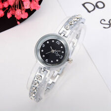 Women's Rose Gold Plated Elegant Rhinestone Bracelet Ladies Round Wrist Watches