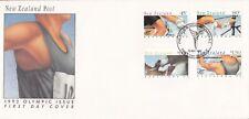 NZFD932) NZ 1992 Olympic Issue Athlete cachet FDC