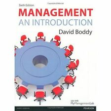 Management: An Introduction, 6th ed. by Boddy, David
