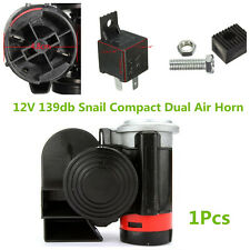 Car Motorcycle 12V 139db Dual Tone Snail Electronic Pump Ultra Compact Air Horn
