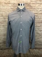 Loro Piana Multicolor Gingham Mens Button Front Long Sleeve Shirt Size 40