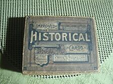 2#W    Antique Freeman & Riddle Improved Historical Cards Game & Box 1884
