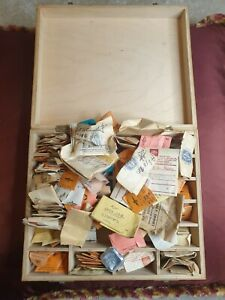 Old Watch Makers Box Of Balance Staffs From Watches Omega, Ebel etc + Many More