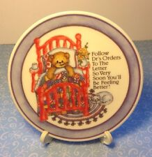 Lucy & Me Enesco Lucy Rigg Get Well Drs Orders Teddy Bear Miniature Plate P-6