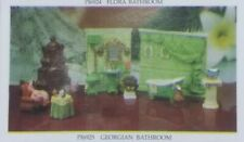 1997 Popular Imports Miniature Georgian Bathroom Doll House Furniture