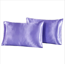 Satin 2pcs Pillowcases Silky Bedding Set 100% Polyester Smooth touch