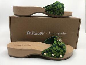 NIB Dr Scholls x Kate Spade NY Flower Sandal Lime Green Floral Slide Sz 9