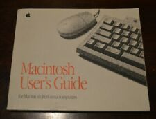 Apple Macintosh User's Guide for Performa Computers