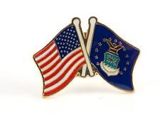 U.S. Air Force Flag USA Flag Crossing Lapel Hat Pin Military PPM641