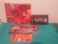 The lion king II simba's pride VHS tape & clamshell case