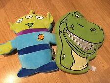 Toy Story Space Alien and REX the Dinosaur Cushions in VGC (Cleaned Ready to go)