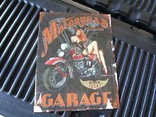 tin metal dealership home garage repair shop gas & oil man cave decor cycle