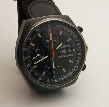 Vintage 1970's Black PVD LeJour Valjoux 7750 Automatic Day Date Chronograph 7000