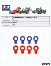 Mini 4wd RUBBER BODY CATCHES (Blue/Red) Tamiya 95393 New Nuovo
