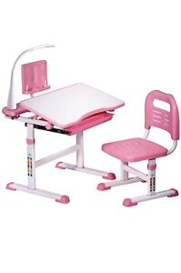 Kids Adjustable Study Desk Chair Set Students Multifunctional Writing Table New