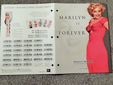 MARILYN MONROE DIAMOND COLLECTION VOL II (2002)VIDEO DEALER ONLY BROCHURE, 4-PGS