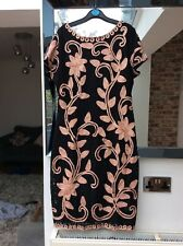 Ladies black pink lace dress Roman 16