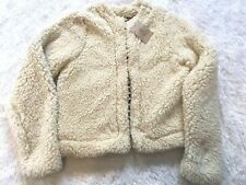 Girls Lands End Ivory Fleece Jacket - L (14)