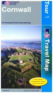 Cornwall (OS Travel Series - Tourist Map... by Ordnance Survey Sheet map, folded