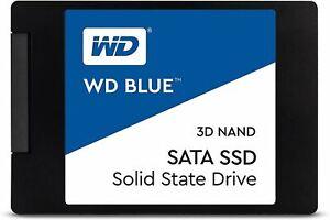 """Western Digital 1TB WD Blue 3D NAND Internal PC SSD - SATA III 6 Gb/s, 2.5""""/7mm,"""