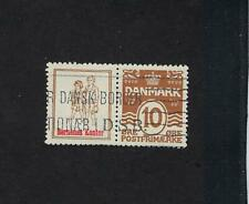 Denmark Facit RE49 and RE50 Used Stamp w/ Advertising Label