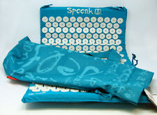 """New Spoonk Accupressue Mat Bed of Nails Turquoise Large 27.5x16.5"""" Travel Bag"""