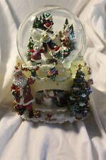 Kirkland Waterglobe Musical Lighted Turning Base, Christmas, Santa, Bear