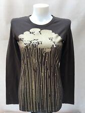 Gf Ferre Donna Maniche Lunghe T-Shirt Marrone M